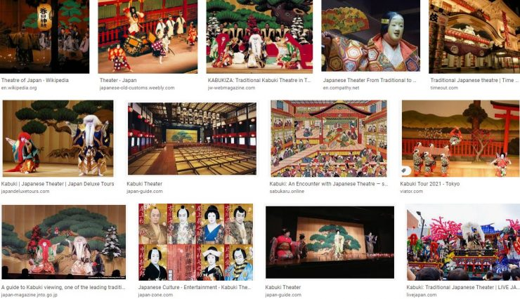 Traditional Japanese theatershow