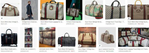 Vintage Gucci Travel Bag for Men and Women