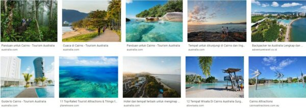 Tourism cluster in cairns australia